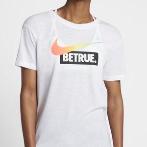 Nike Be True 2017 rainbow LGBTQ swoosh t-shirt